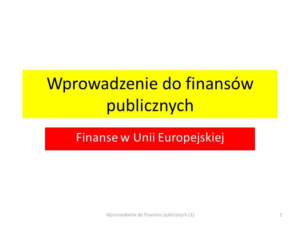 Wprowadzenie do finansów publicznych