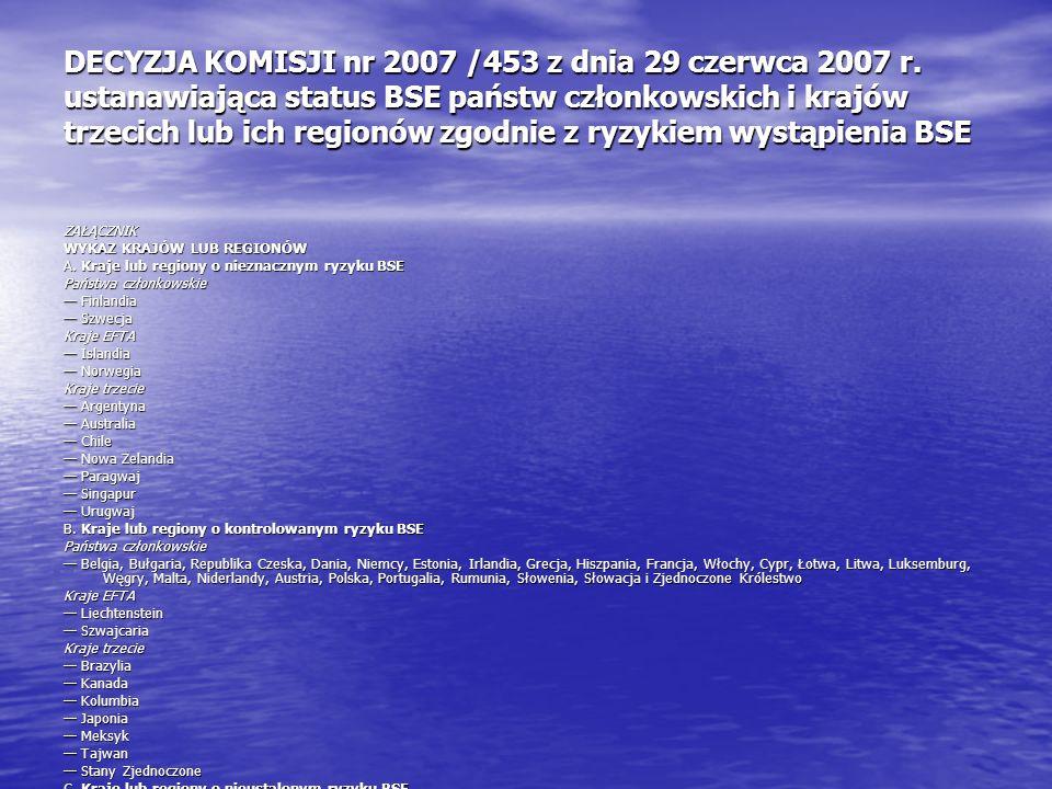 DECYZJA KOMISJI nr 2007 /453 z dnia 29 czerwca 2007 r