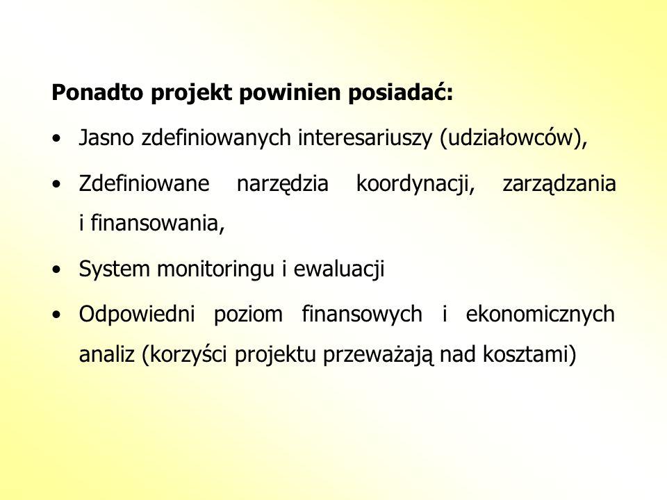 Ponadto projekt powinien posiadać: