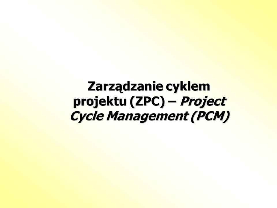 Zarządzanie cyklem projektu (ZPC) – Project Cycle Management (PCM)