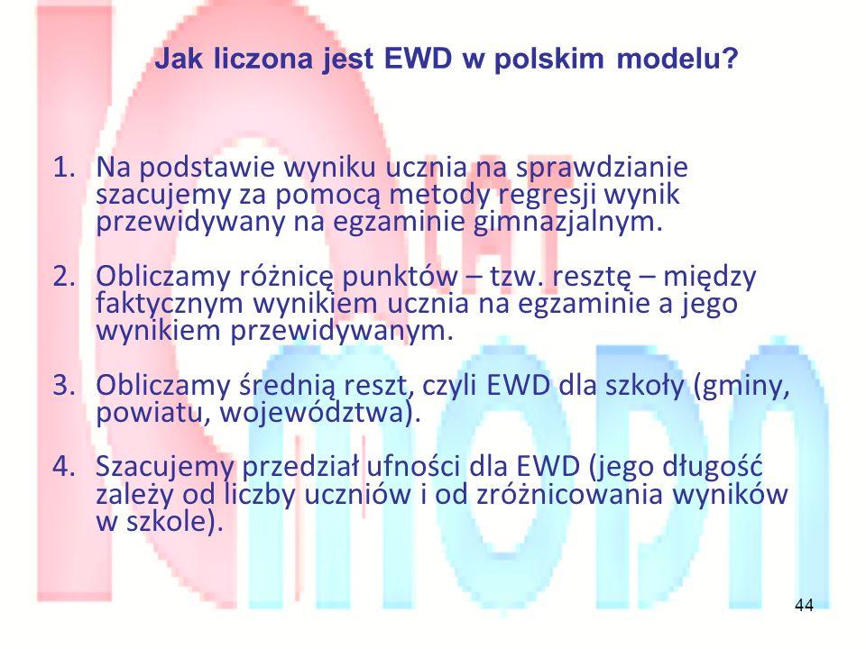 Jak liczona jest EWD w polskim modelu