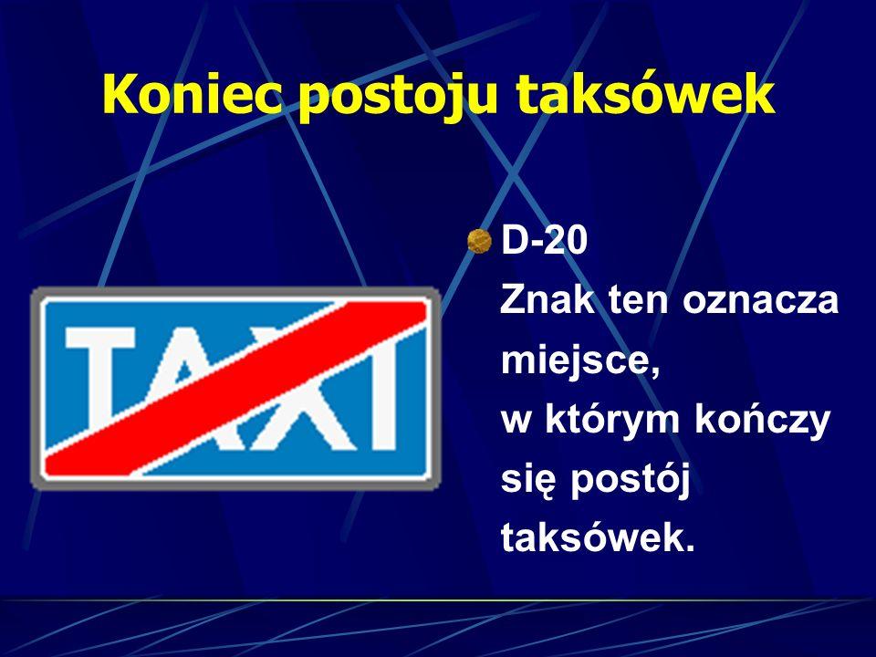 Koniec postoju taksówek