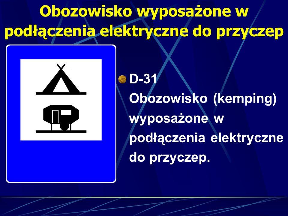 Obozowisko wyposażone w podłączenia elektryczne do przyczep