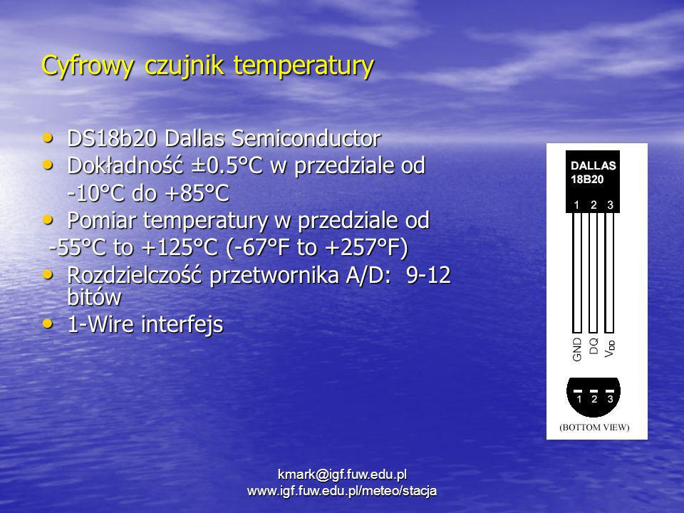 Cyfrowy czujnik temperatury