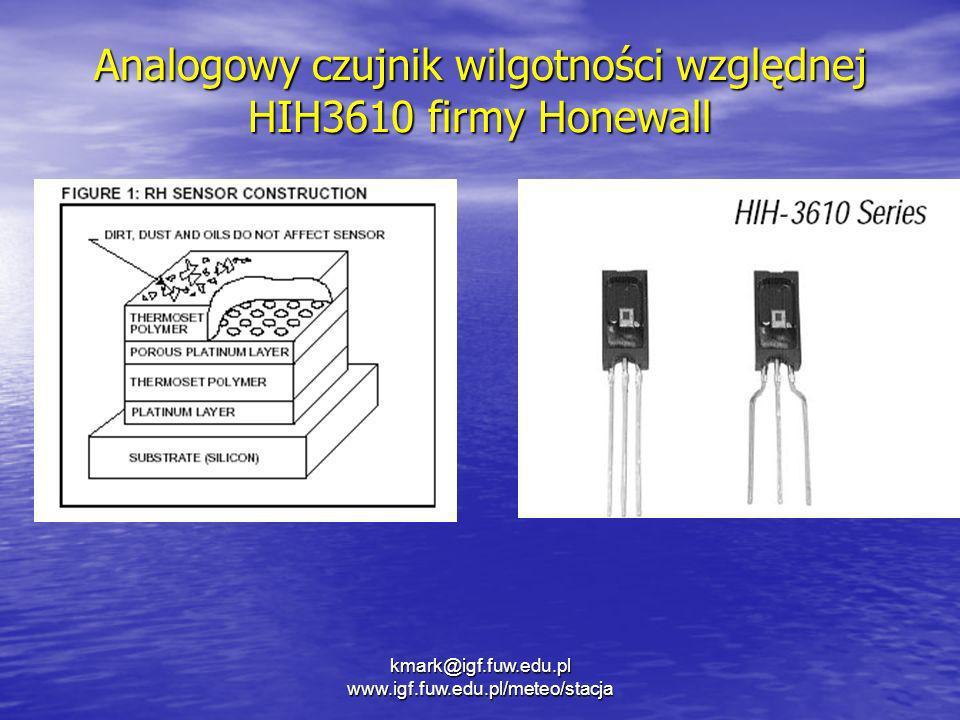 Analogowy czujnik wilgotności względnej HIH3610 firmy Honewall
