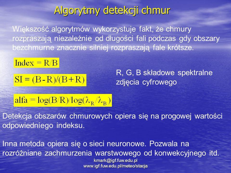 Algorytmy detekcji chmur