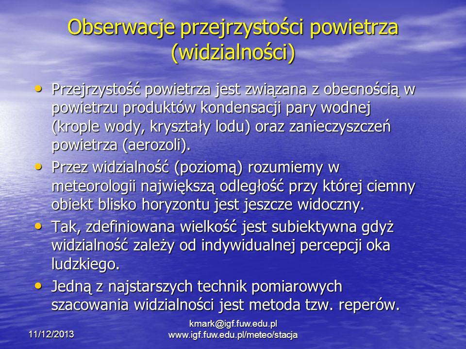 Obserwacje przejrzystości powietrza (widzialności)