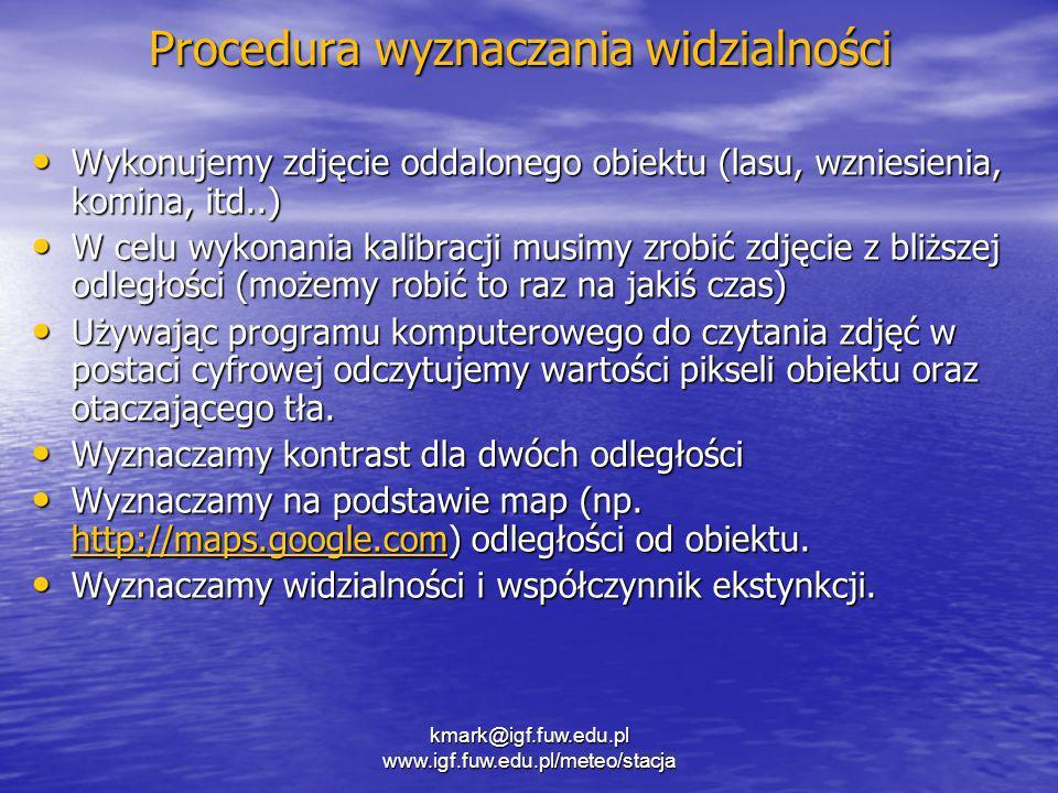 Procedura wyznaczania widzialności