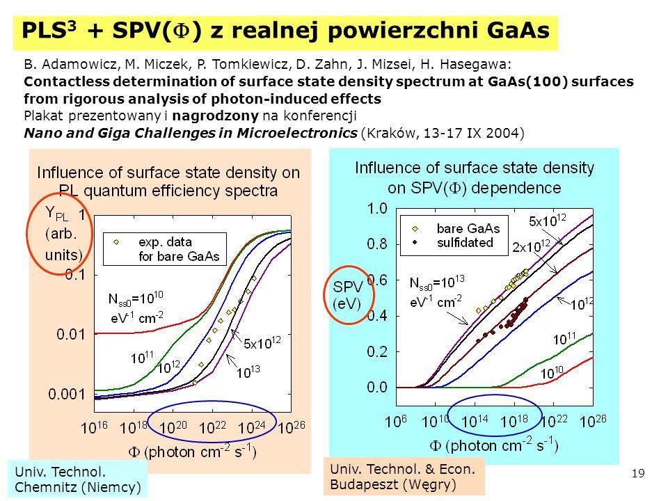 PLS3 + SPV(F) z realnej powierzchni GaAs