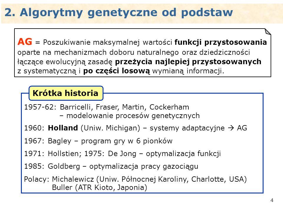 2. Algorytmy genetyczne od podstaw