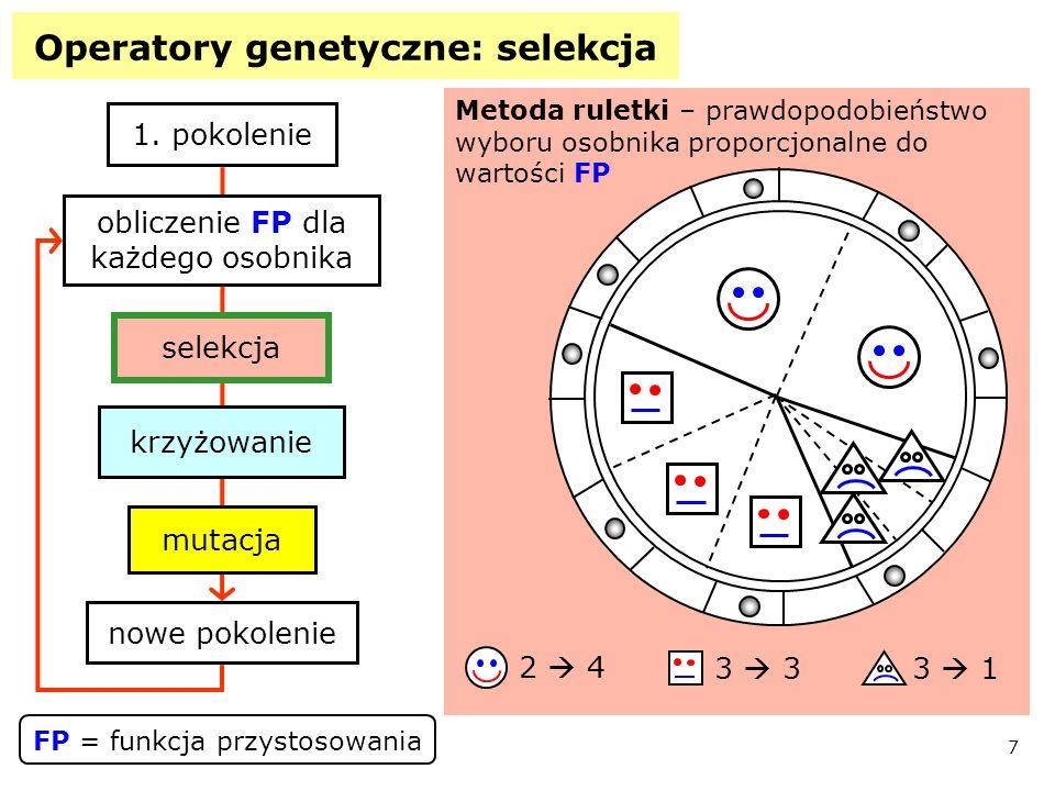 Operatory genetyczne: selekcja