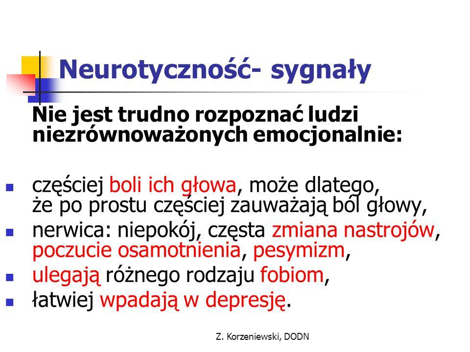 Neurotyczność- sygnały