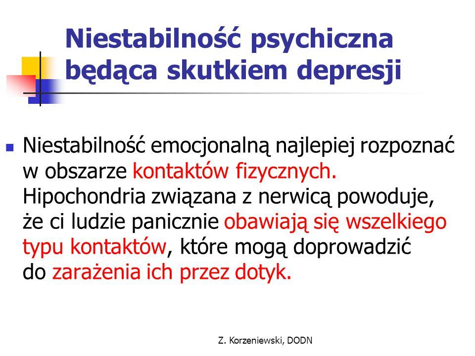 Niestabilność psychiczna będąca skutkiem depresji