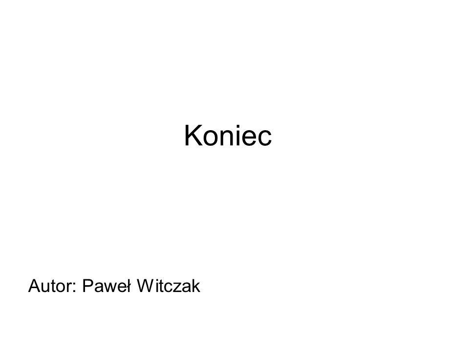 Autor: Paweł Witczak Koniec