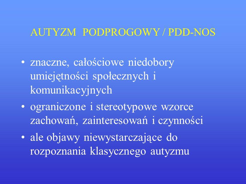 AUTYZM PODPROGOWY / PDD-NOS