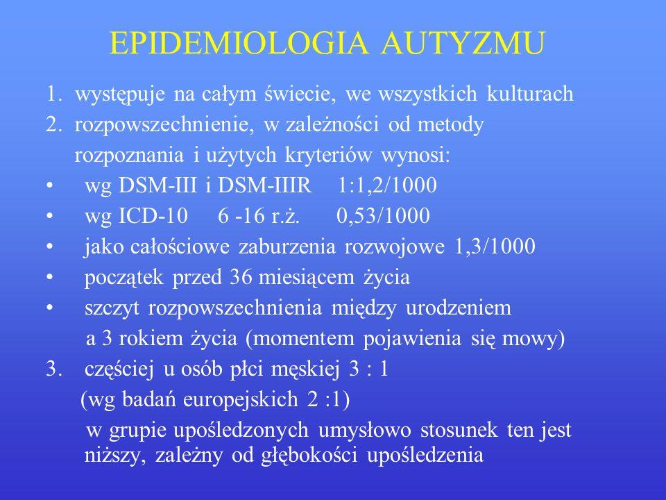 EPIDEMIOLOGIA AUTYZMU
