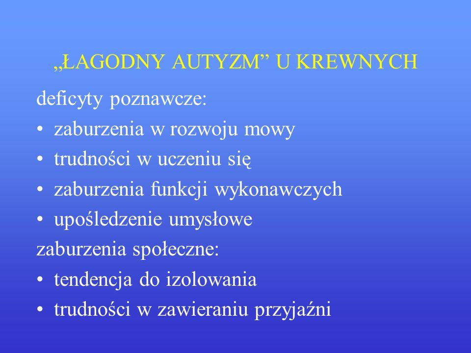 """""""ŁAGODNY AUTYZM U KREWNYCH"""