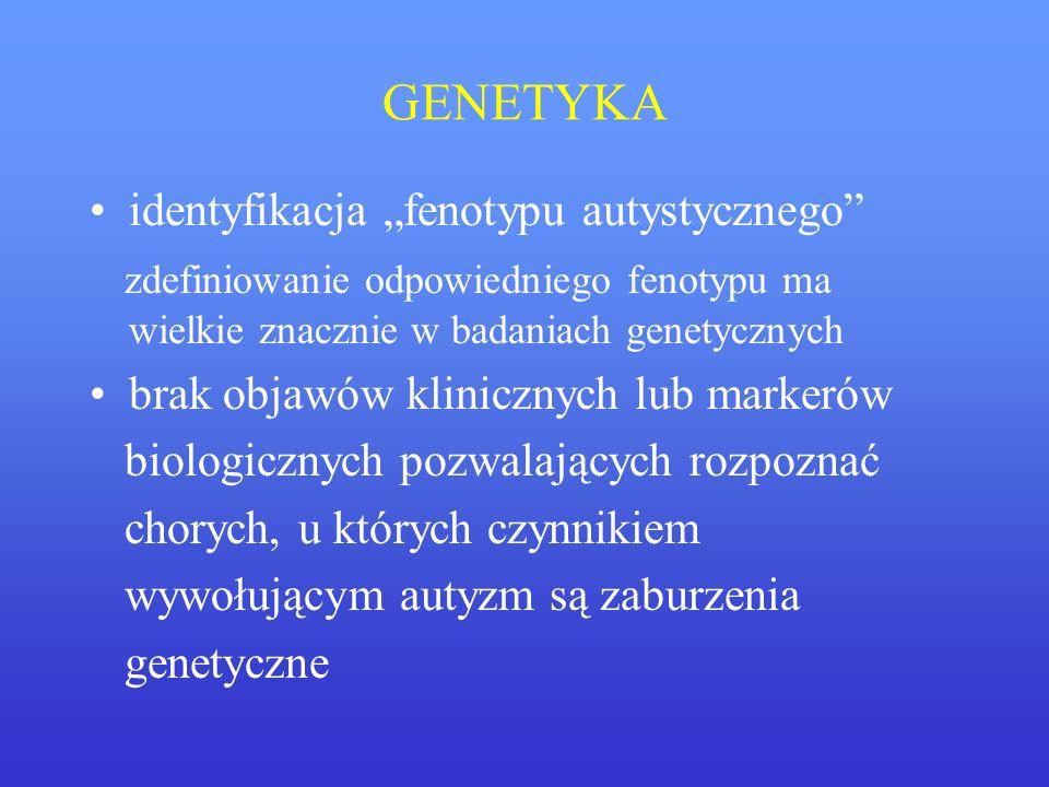 """GENETYKA identyfikacja """"fenotypu autystycznego"""