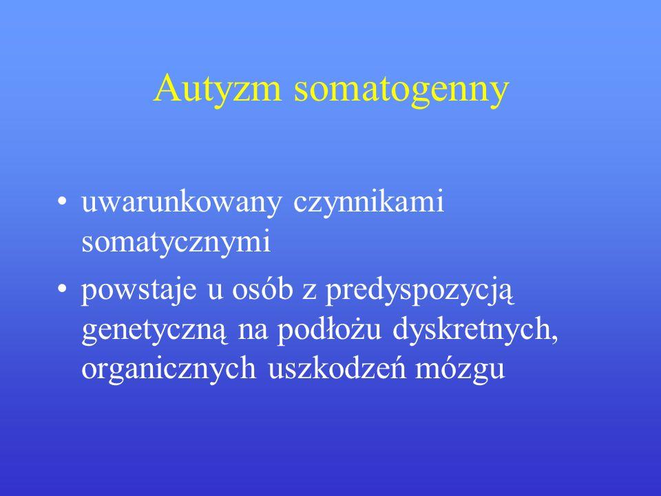Autyzm somatogenny uwarunkowany czynnikami somatycznymi