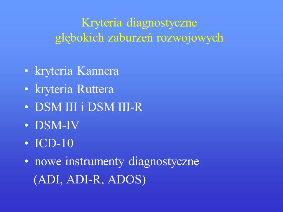 Kryteria diagnostyczne głębokich zaburzeń rozwojowych