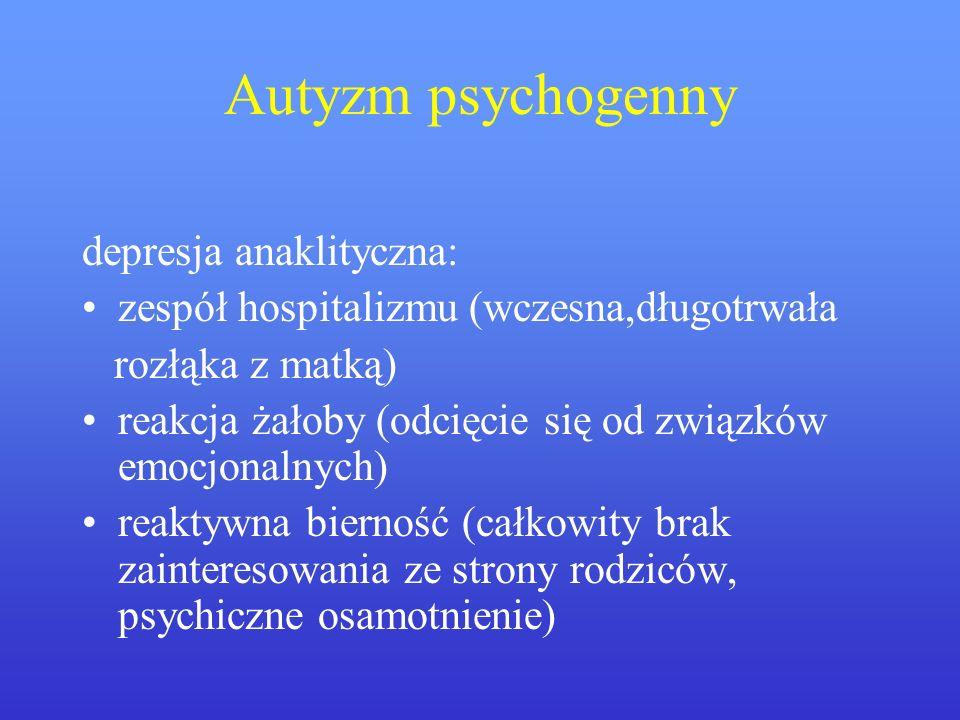 Autyzm psychogenny depresja anaklityczna: