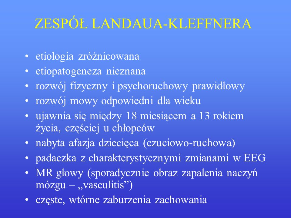 ZESPÓŁ LANDAUA-KLEFFNERA