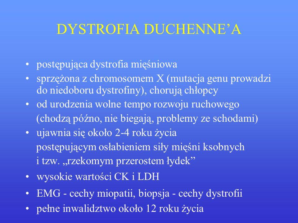 DYSTROFIA DUCHENNE'A postępująca dystrofia mięśniowa