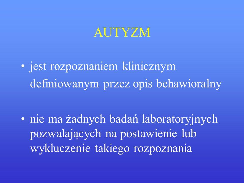 AUTYZM jest rozpoznaniem klinicznym