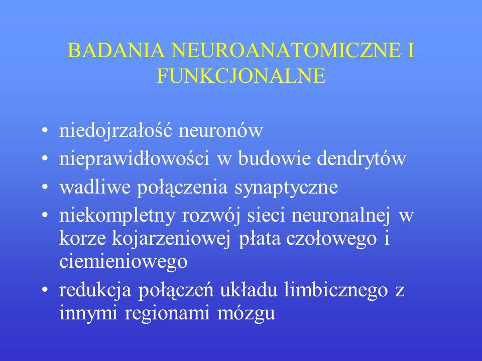 BADANIA NEUROANATOMICZNE I FUNKCJONALNE