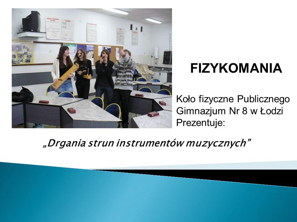 FIZYKOMANIA Koło fizyczne Publicznego Gimnazjum Nr 8 w Łodzi