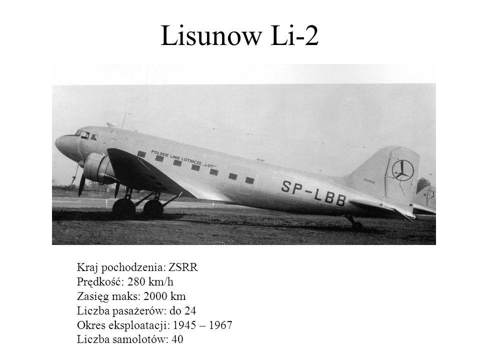 Lisunow Li-2 Kraj pochodzenia: ZSRR Prędkość: 280 km/h