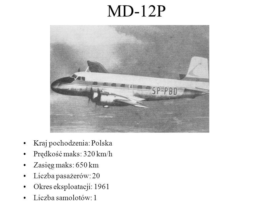 MD-12P Kraj pochodzenia: Polska Prędkość maks: 320 km/h