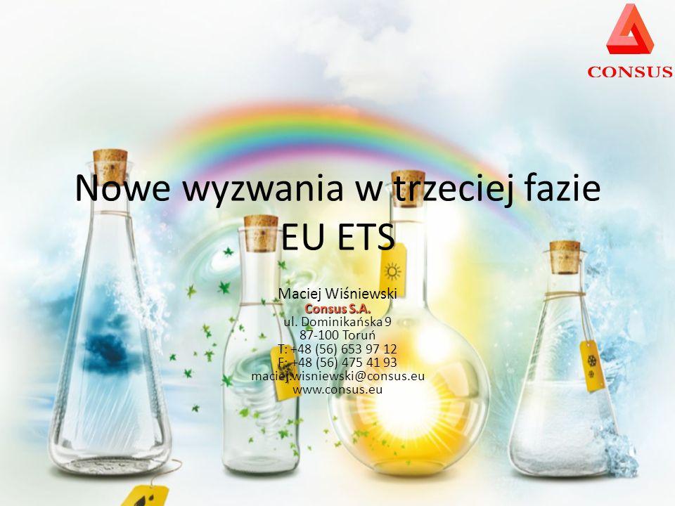 Nowe wyzwania w trzeciej fazie EU ETS