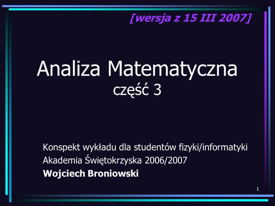 Analiza Matematyczna część 3