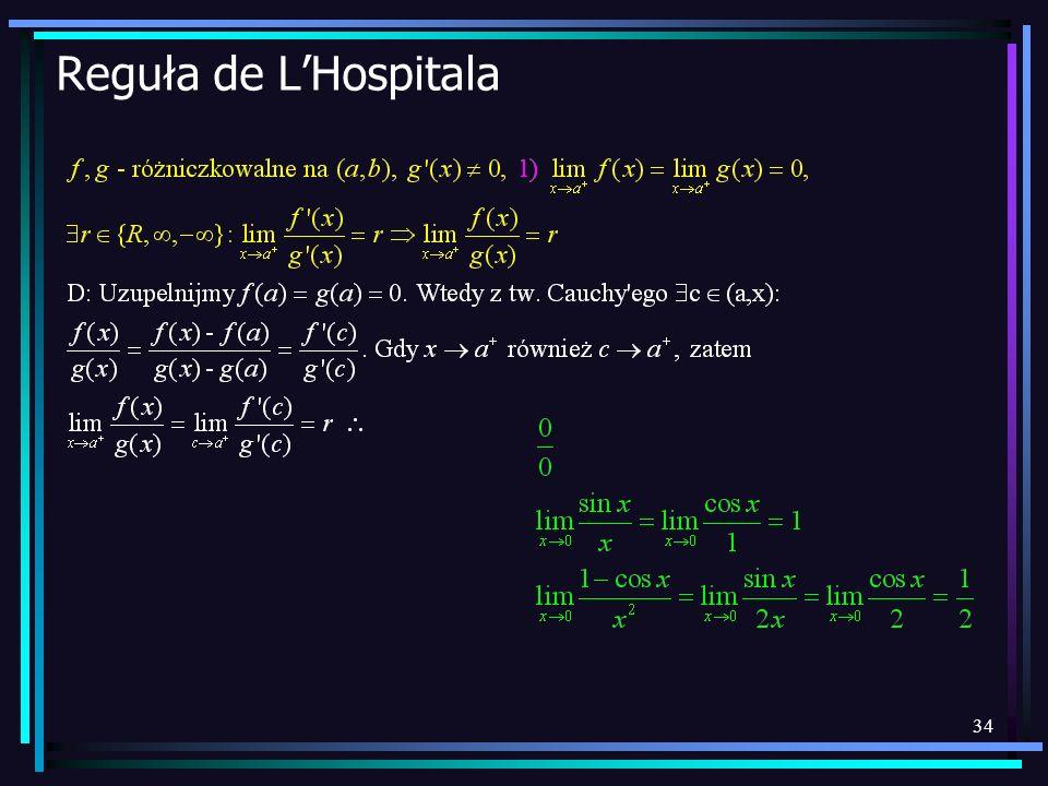 Reguła de L'Hospitala