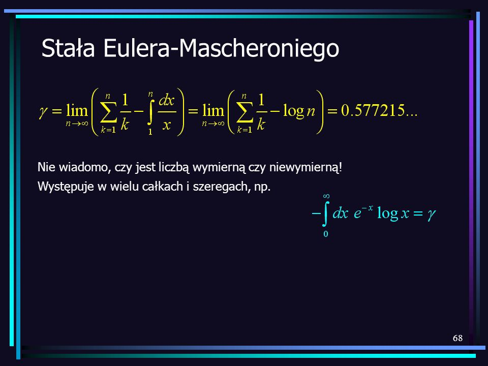 Stała Eulera-Mascheroniego