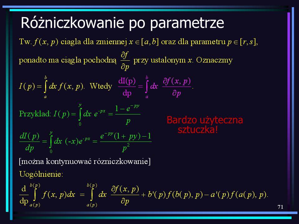Różniczkowanie po parametrze