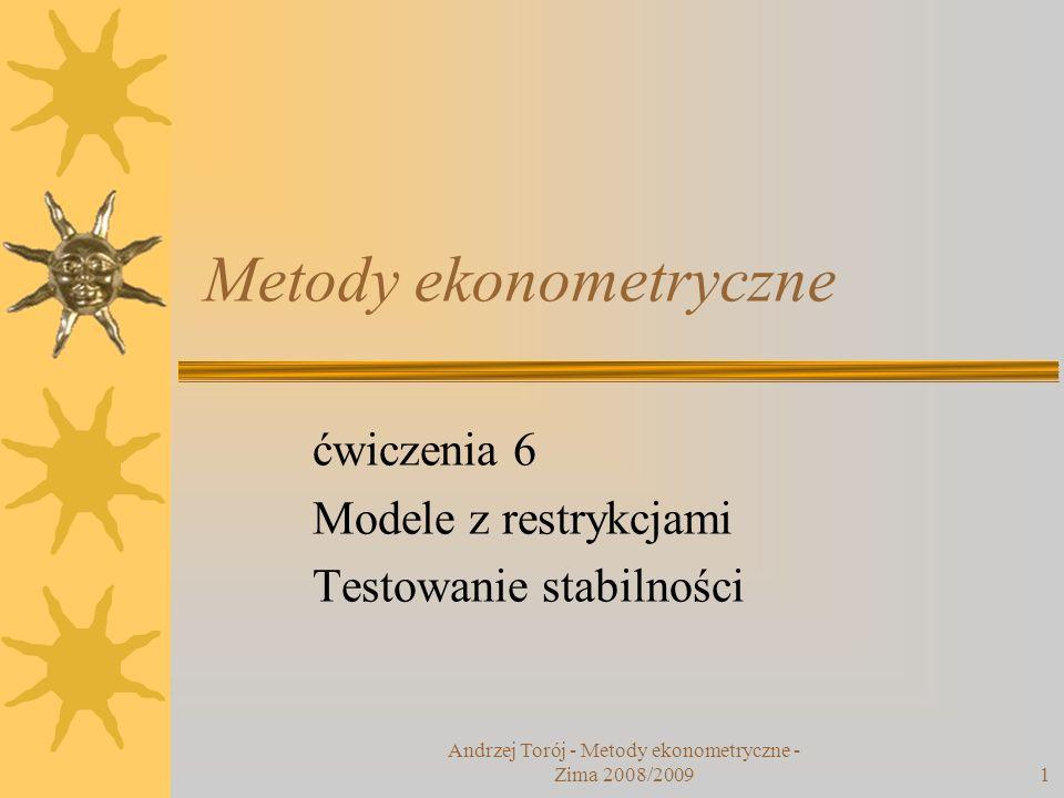 Metody ekonometryczne