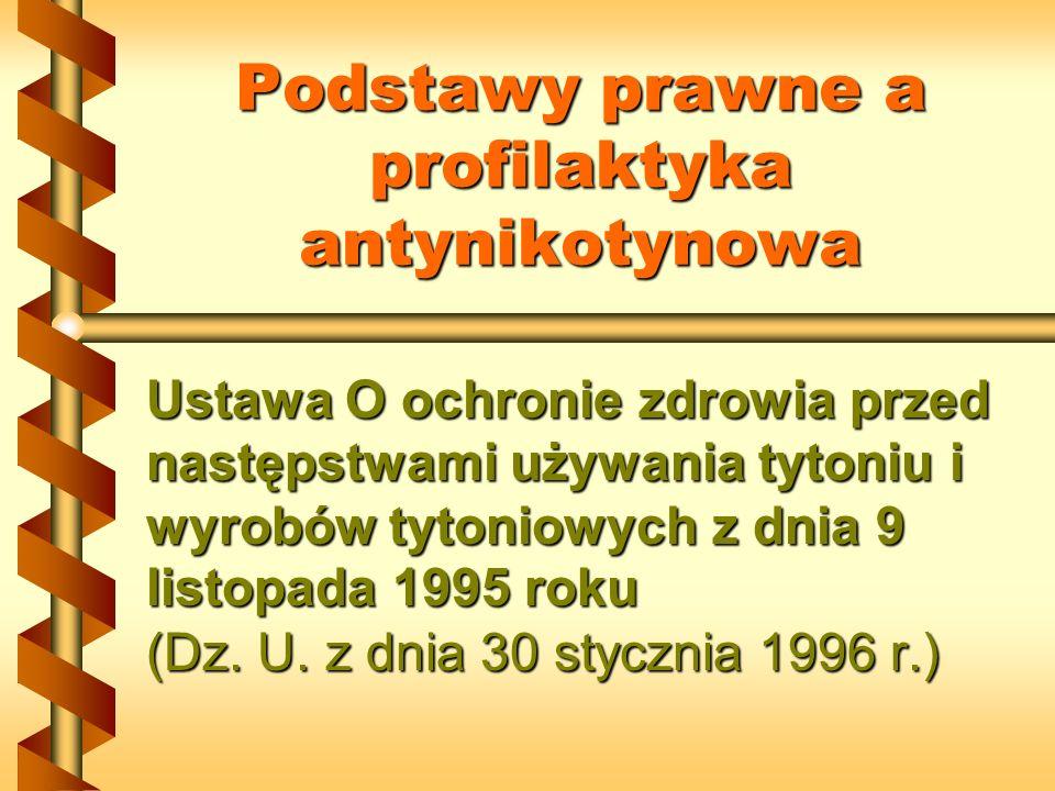Podstawy prawne a profilaktyka antynikotynowa