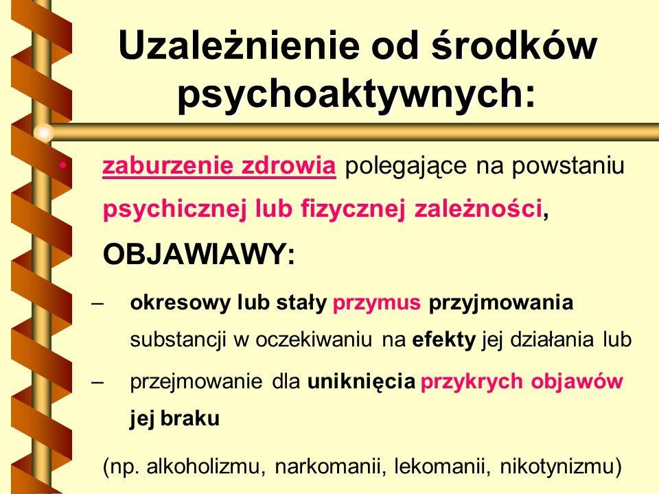 Uzależnienie od środków psychoaktywnych:
