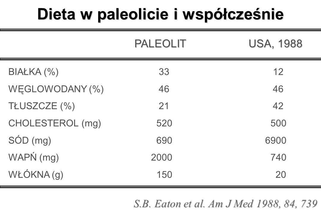 Dieta w paleolicie i współcześnie