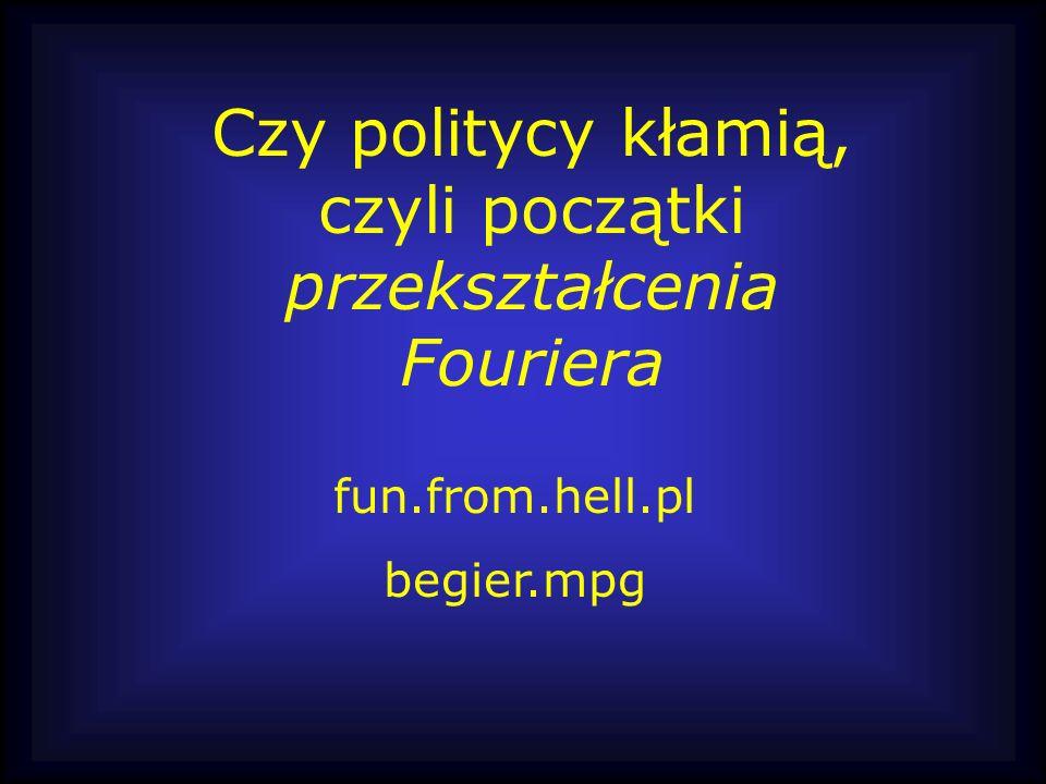 Czy politycy kłamią, czyli początki przekształcenia Fouriera