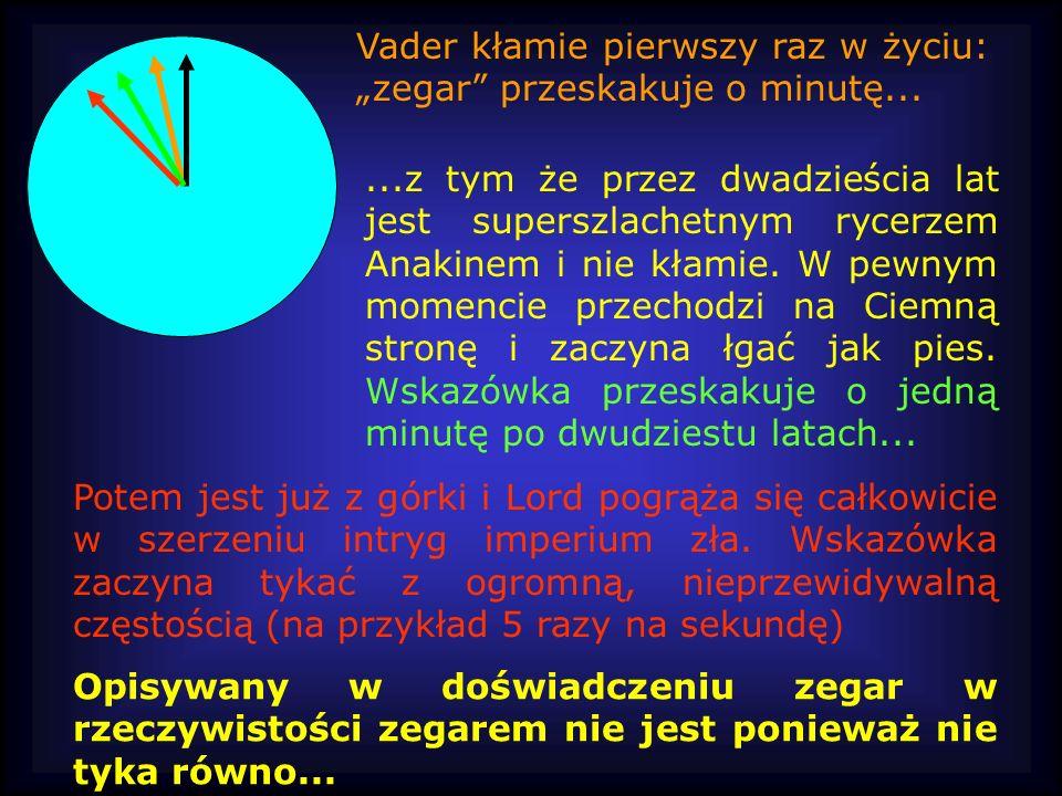 """Vader kłamie pierwszy raz w życiu: """"zegar przeskakuje o minutę..."""