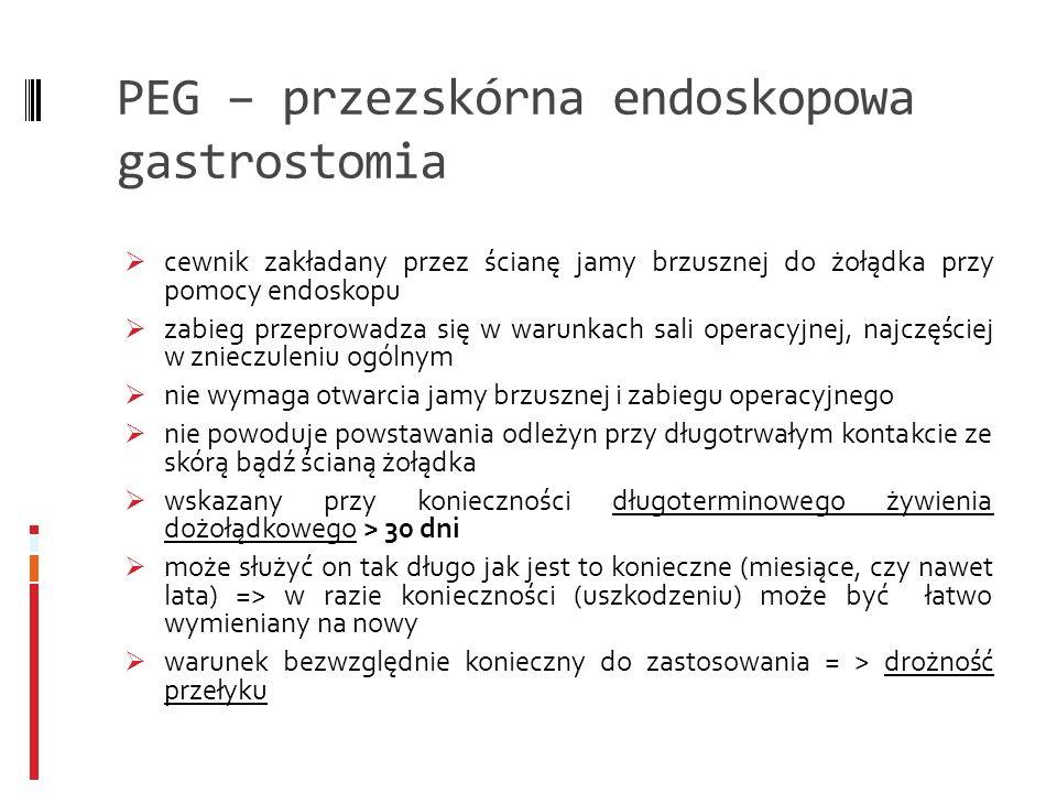 PEG – przezskórna endoskopowa gastrostomia