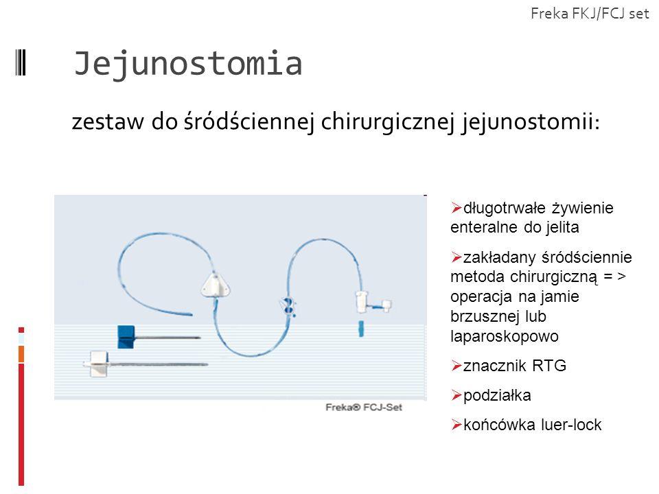 Jejunostomia zestaw do śródściennej chirurgicznej jejunostomii: