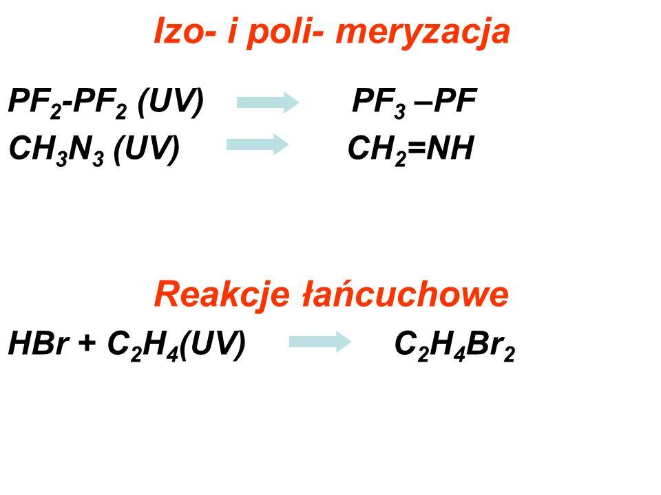 Izo- i poli- meryzacja Reakcje łańcuchowe
