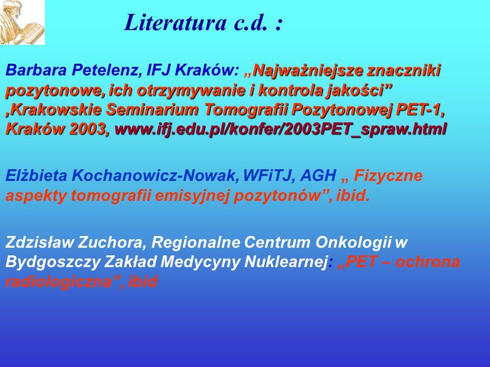 Literatura c.d. :