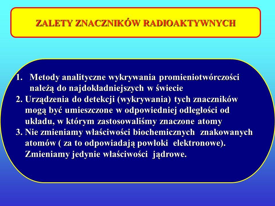 ZALETY ZNACZNIKÓW RADIOAKTYWNYCH