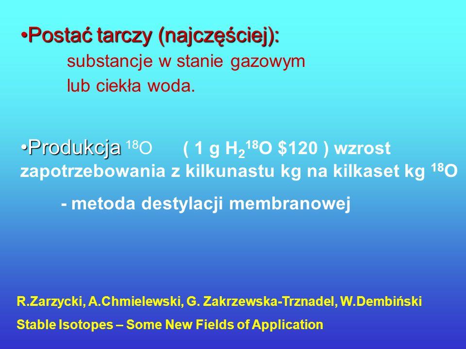 Postać tarczy (najczęściej):. substancje w stanie gazowym