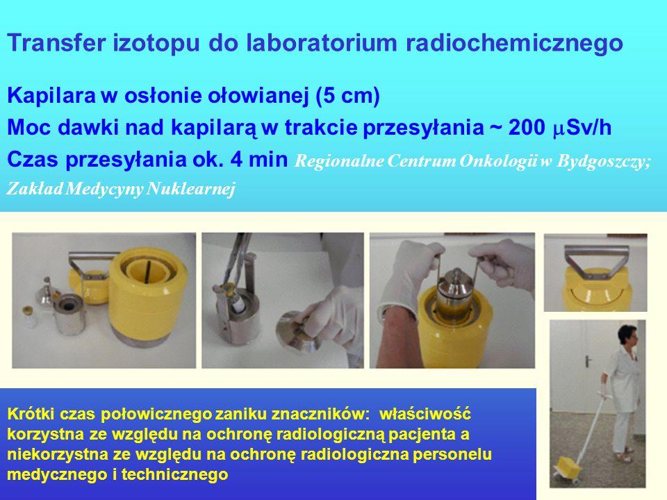 Transfer izotopu do laboratorium radiochemicznego